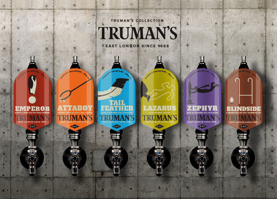 Trumans Beer Collection.